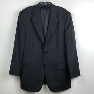 Joseph Abboud Lora Piano Black Wool Blazer 40R